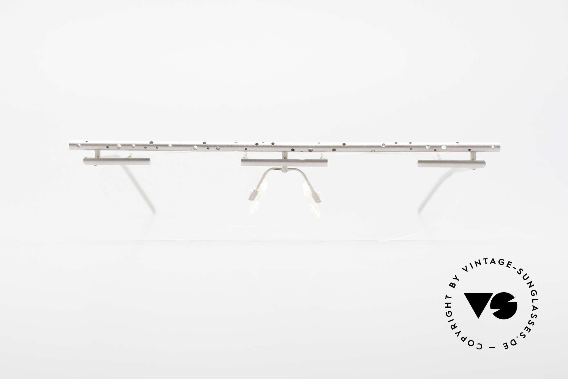 """B. Angeletti Gazelle Vintage Architekten Brille, extrem seltene """"Architekten"""" Designer-Fassung von 1992, Passend für Herren und Damen"""
