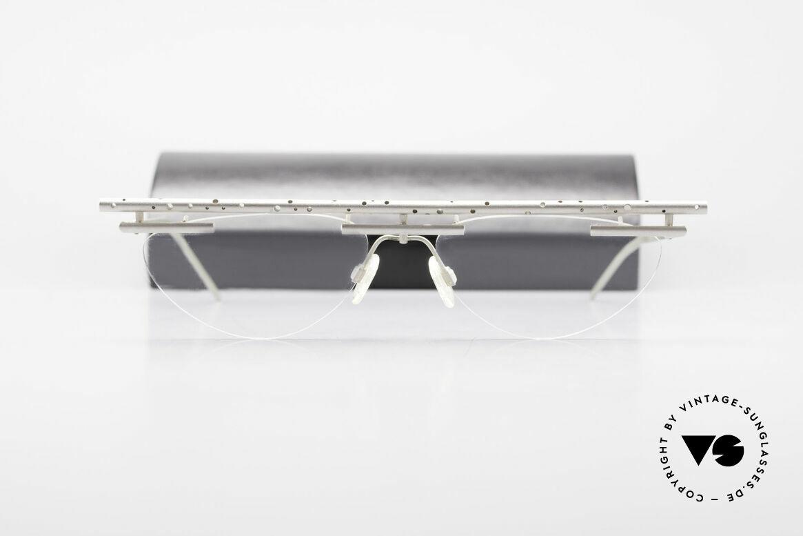 B. Angeletti Gazelle Vintage Architekten Brille, absolute Rarität in Handarbeit gefertigt; Sammlerstück!, Passend für Herren und Damen