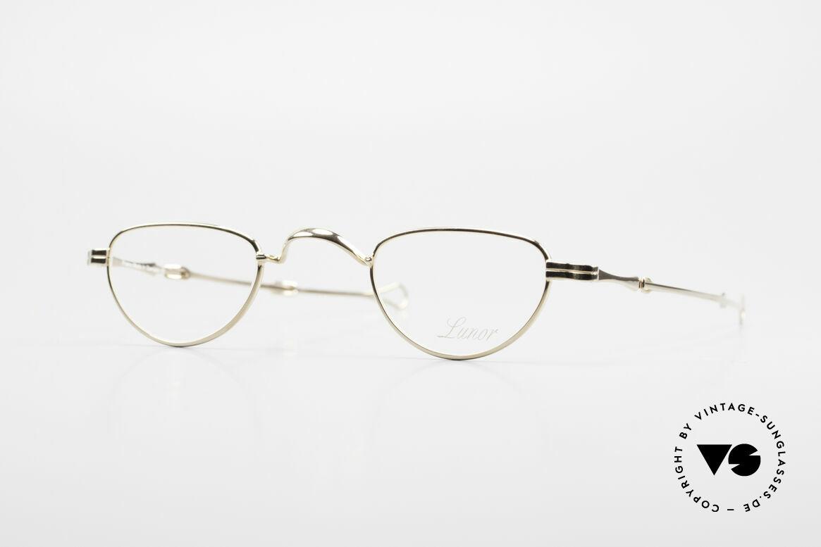 """Lunor I 06 Telescopic Ausziehbare Brille Vergoldet, LUNOR = französisch für """"Lunette d'Or"""" (Goldbrille), Passend für Herren und Damen"""