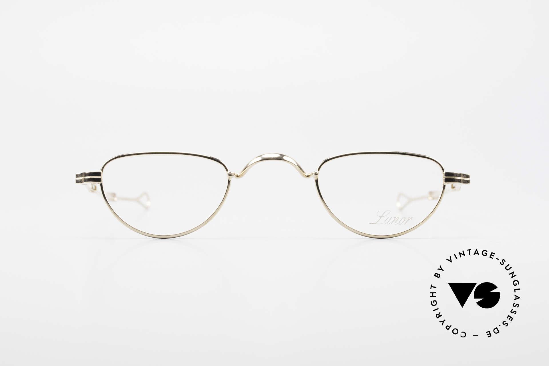 Lunor I 06 Telescopic Ausziehbare Brille Vergoldet, deutsches Traditionsunternehmen; made in Germany, Passend für Herren und Damen
