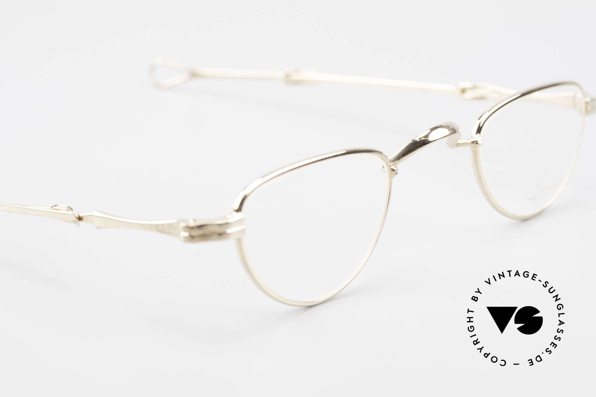 Lunor I 06 Telescopic Ausziehbare Brille Vergoldet, sowie für ausziehbare Brillenbügel (= teleskopartig), Passend für Herren und Damen
