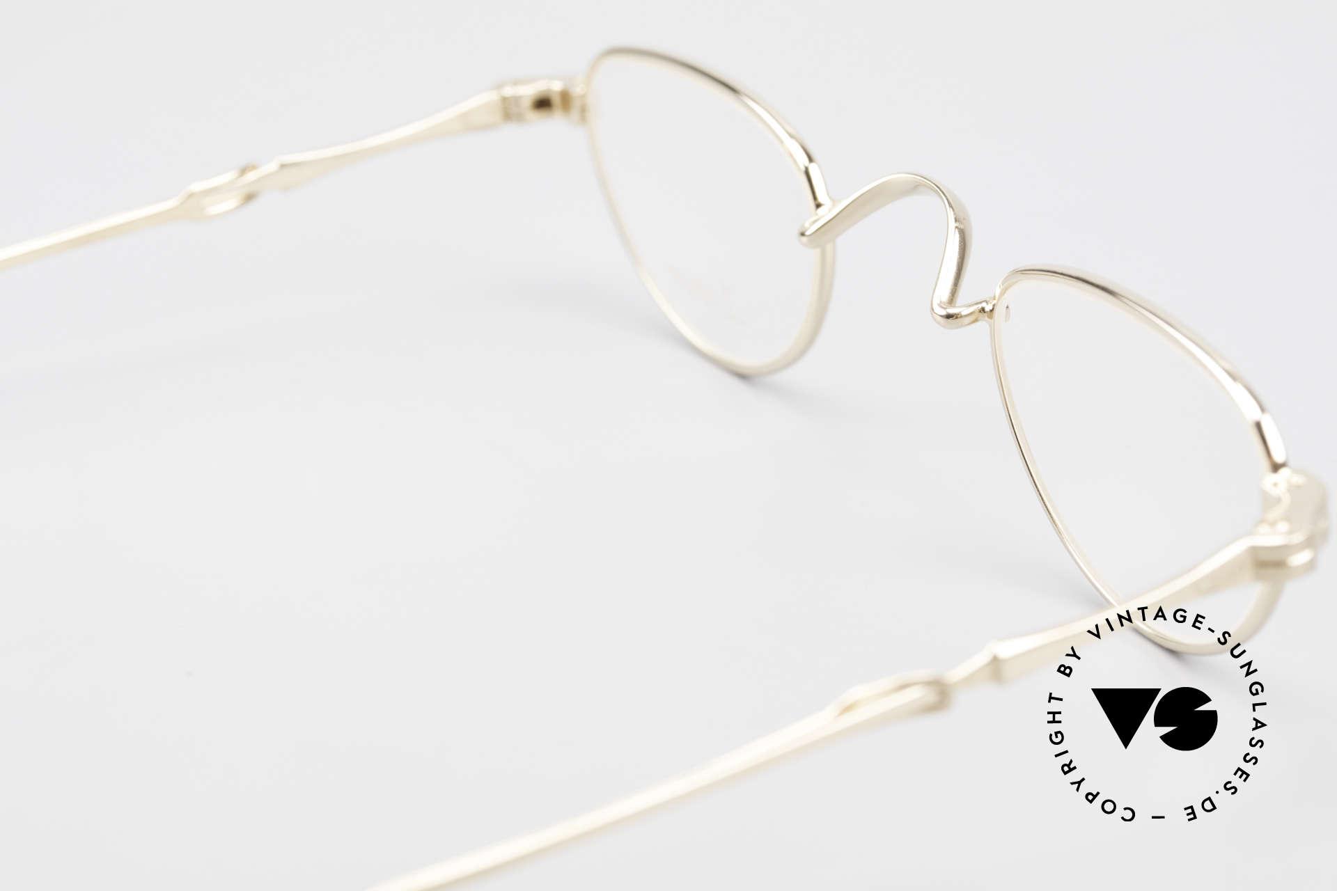 Lunor I 06 Telescopic Ausziehbare Brille Vergoldet, altes, ungetragenes LUNOR Einzelstück von ca. 1999, Passend für Herren und Damen