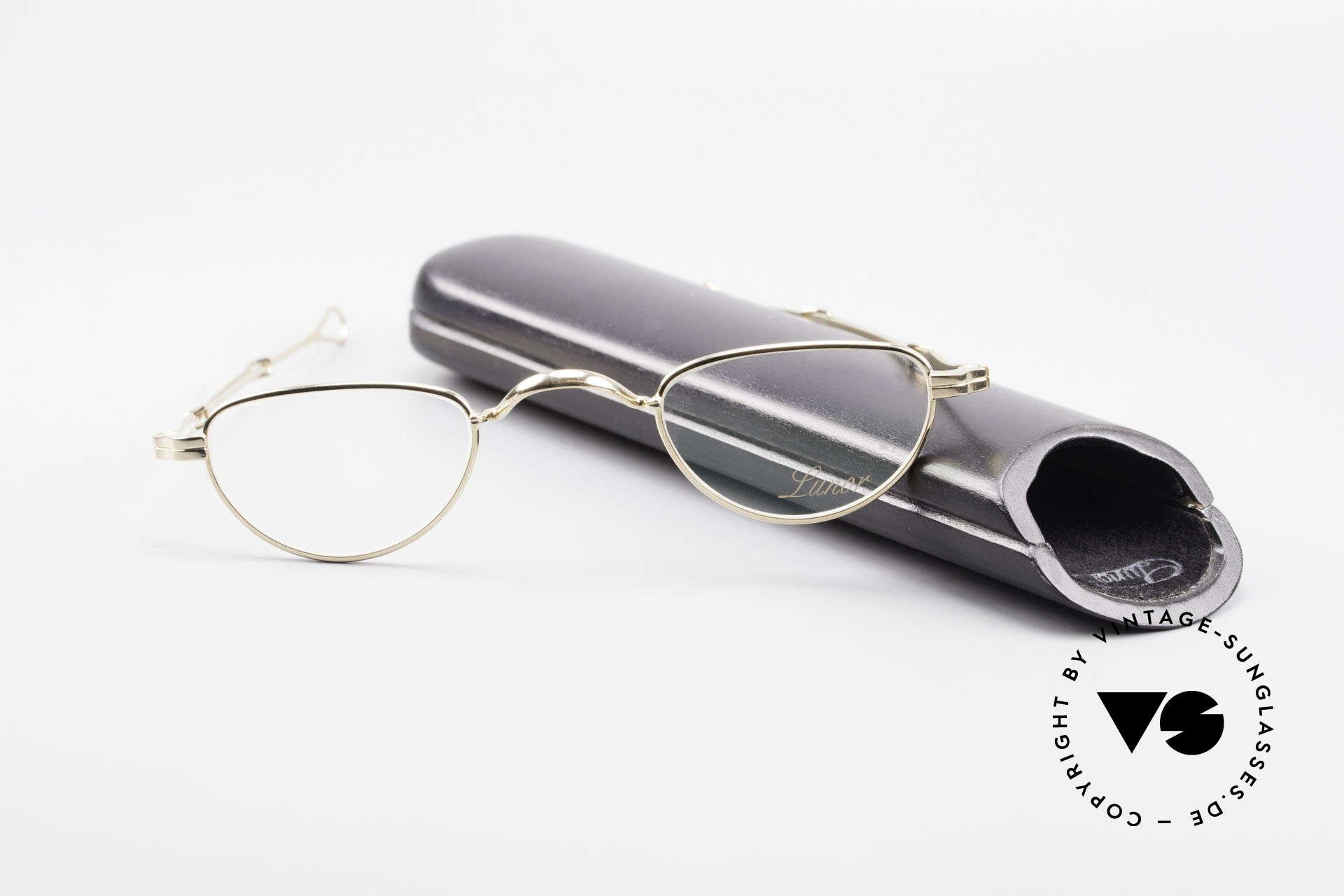 Lunor I 06 Telescopic Ausziehbare Brille Vergoldet, Größe: extra small, Passend für Herren und Damen