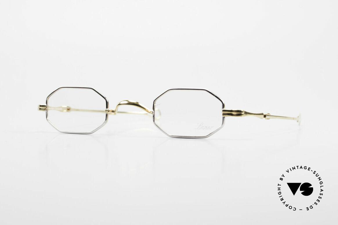 """Lunor - Telescopic Ausziehbare Brille Achteckig, LUNOR = französisch für """"Lunette d'Or"""" (Goldbrille), Passend für Herren und Damen"""