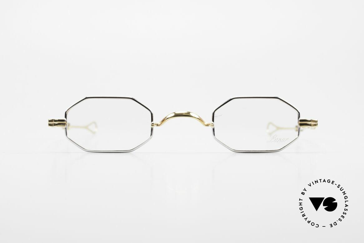 Lunor - Telescopic Ausziehbare Brille Achteckig, deutsches Traditionsunternehmen; made in Germany, Passend für Herren und Damen