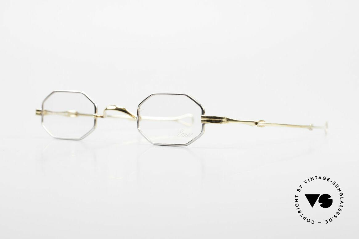 Lunor - Telescopic Ausziehbare Brille Achteckig, Brillendesign in Anlehnung an frühere Jahrhunderte, Passend für Herren und Damen