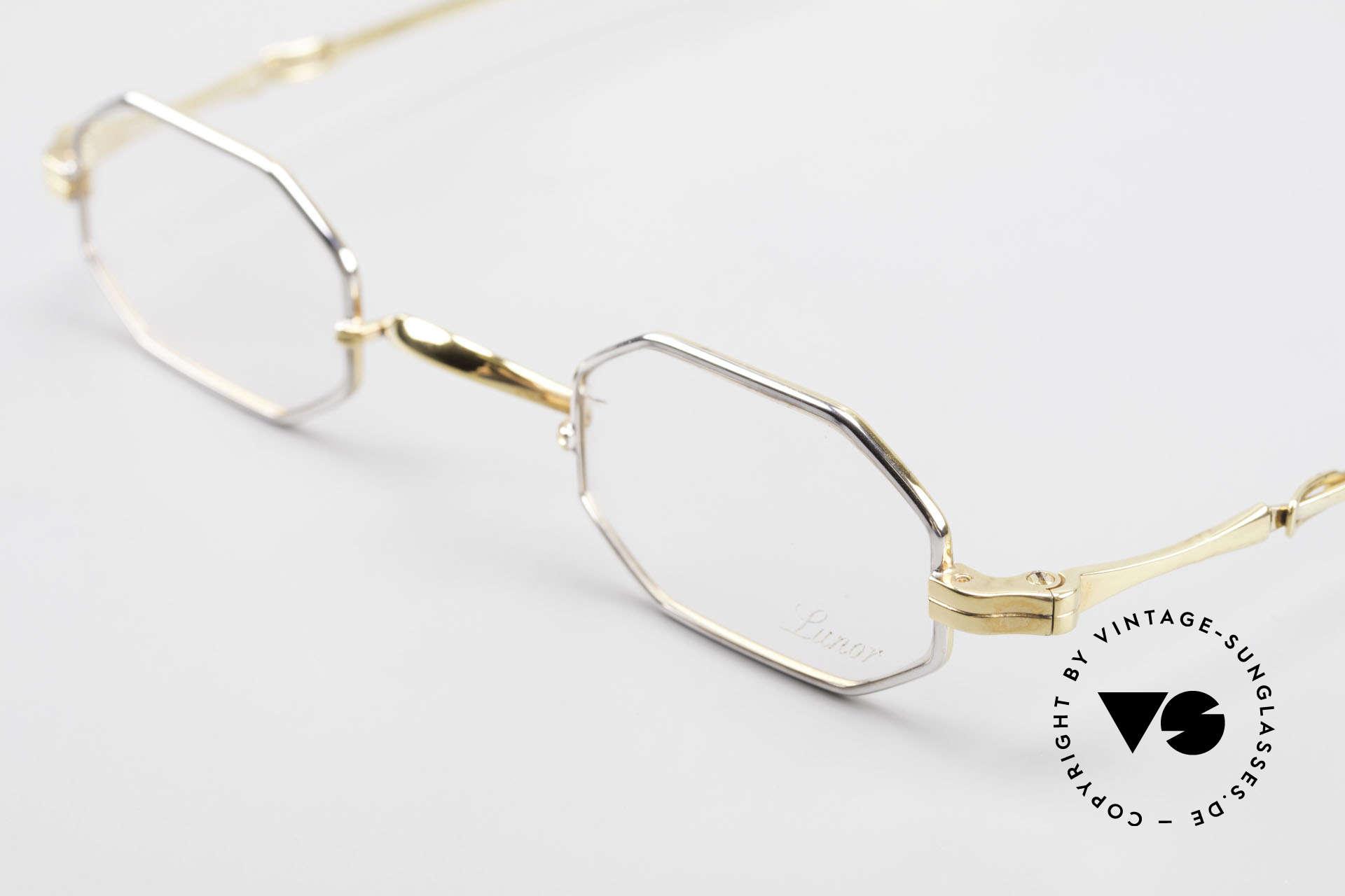 Lunor - Telescopic Ausziehbare Brille Achteckig, bekannt für den W-Steg und die schlichten Formen, Passend für Herren und Damen