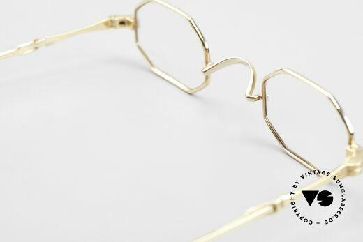 Lunor - Telescopic Ausziehbare Brille Achteckig, altes, ungetragenes LUNOR Einzelstück von ca. 1996, Passend für Herren und Damen