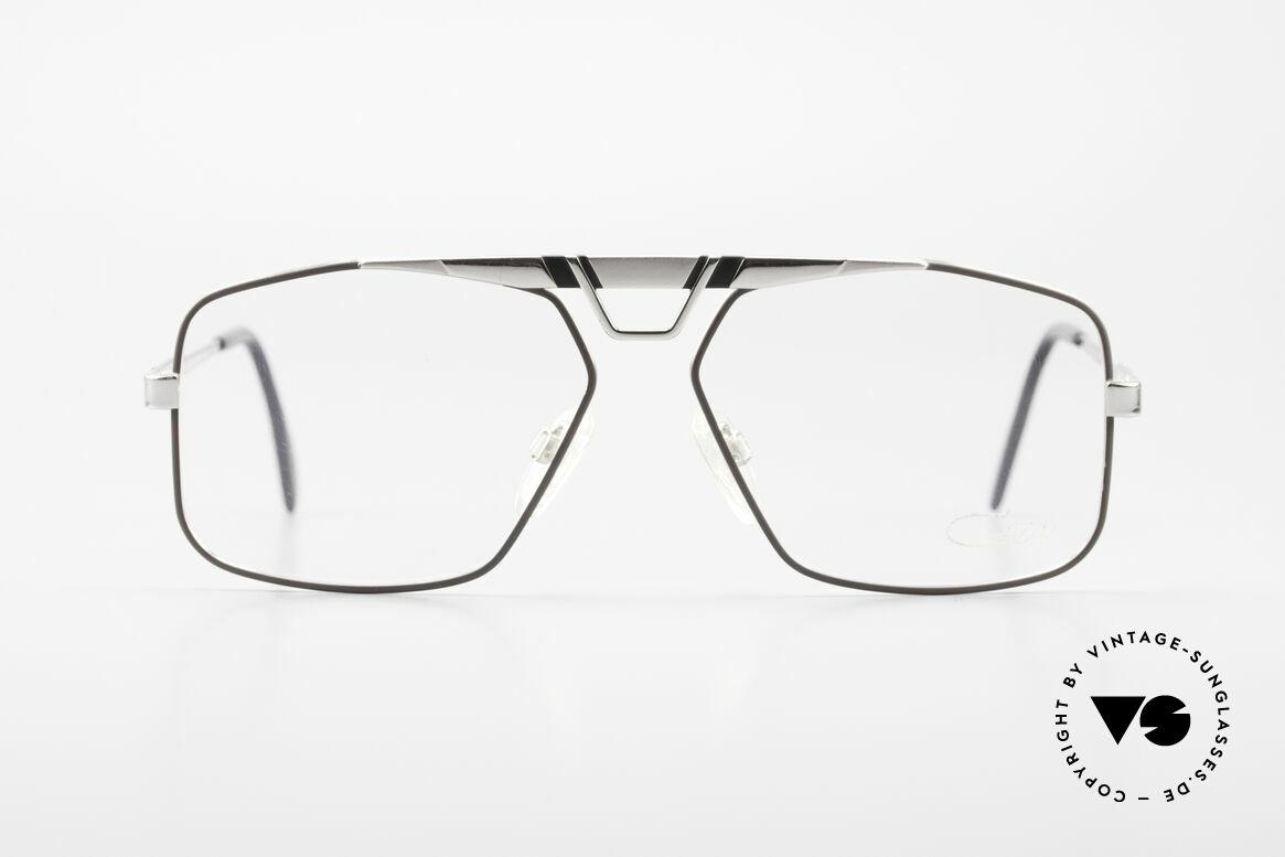 Cazal 735 Brad Pitt Vintage Brille 80er, maskuline Cazal vintage Brillen-Fassung von 1985, Passend für Herren