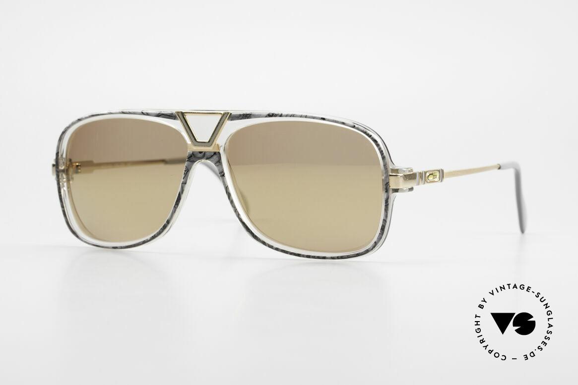 Cazal 635 Gold Verspiegelte Gläser 80er, 80er Old School Run DMC Hip Hop Sonnenbrille, Passend für Herren