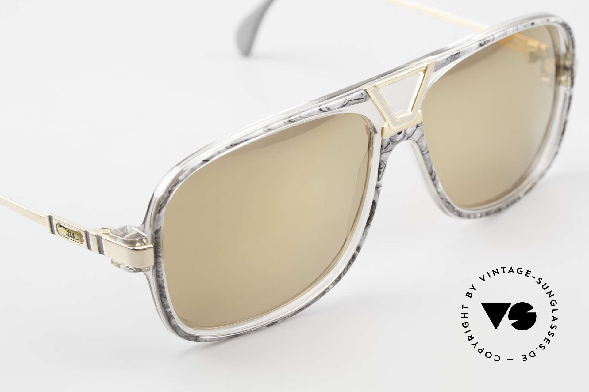 Cazal 635 Gold Verspiegelte Gläser 80er, KEINE Retrobrille, sondern ein seltenes Original, Passend für Herren