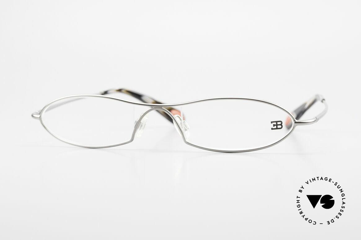 Bugatti 341 Odotype Herren Designer Vintage Brille, ORIGINAL high-tech Bugatti Brillenfasssung, Passend für Herren