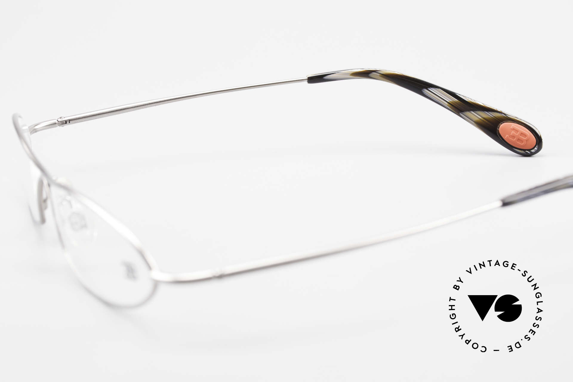 Bugatti 341 Odotype Herren Designer Vintage Brille, Modell als Brille oder Sonnenbrille verglasbar, Passend für Herren