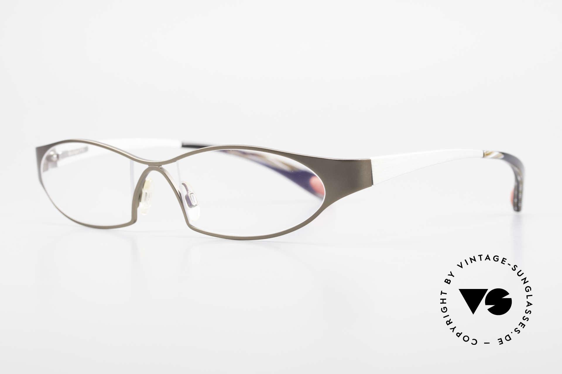 Bugatti 363 Odotype Rare Designer Brille Herren, ergonomischer Rahmen mit Federscharnieren, Passend für Herren