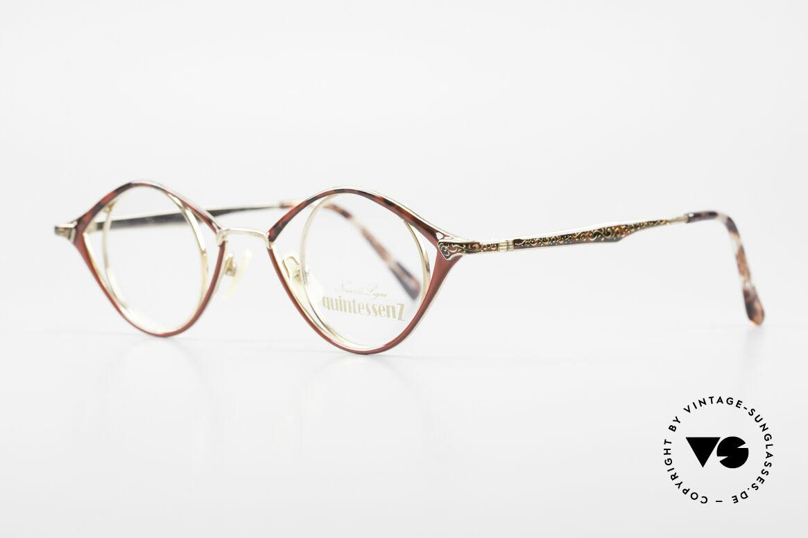 Nouvelle Ligne Q40 Vintage Damenbrille No Retro, zauberhaftes Modell aus der Quintessenz-Serie, Passend für Damen
