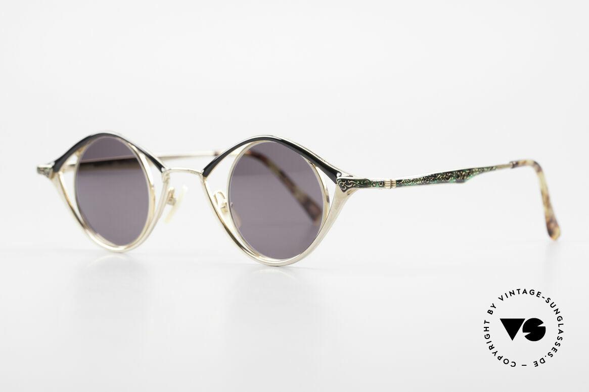 Nouvelle Ligne Q40 Vintage Damensonnenbrille, zauberhaftes Modell aus der Quintessenz-Serie, Passend für Damen