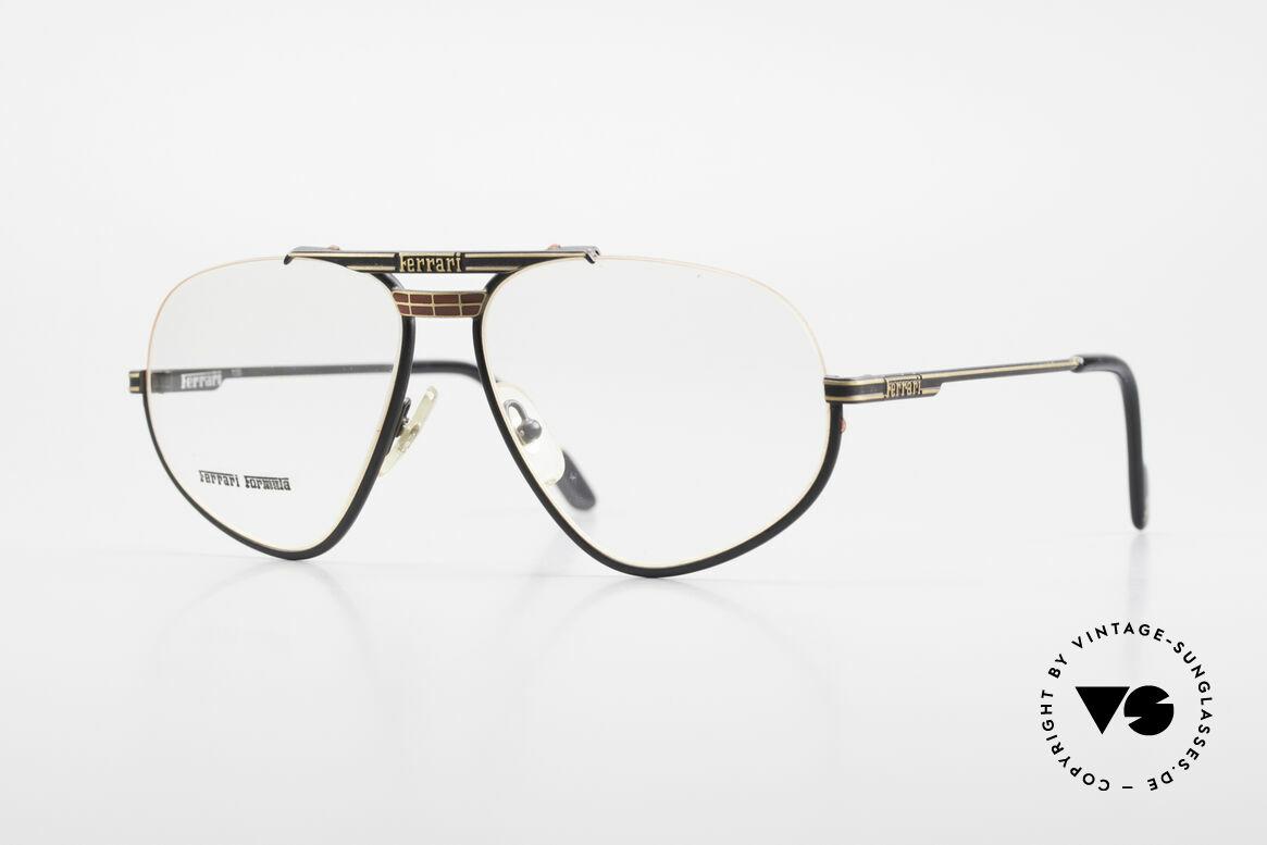 Ferrari F2 Alte Ferrari Brille True Vintage, sehr seltene Ferrari Brillenfasssung aus den 1980ern, Passend für Herren