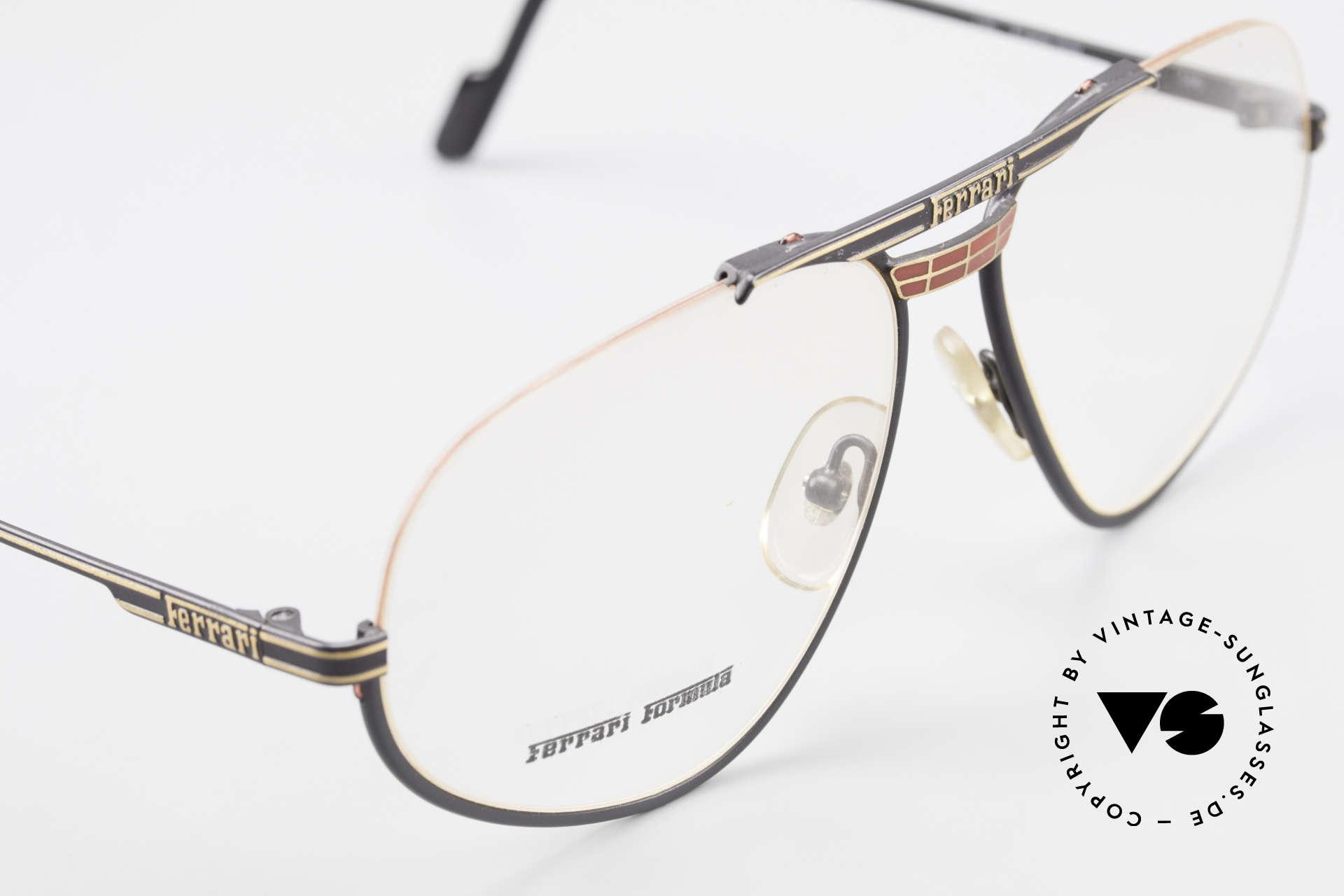 Ferrari F2 Alte Ferrari Brille True Vintage, Demos können beliebig ersetzt werden (optisch/Sonne), Passend für Herren