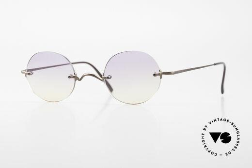 Freudenhaus Flemming Randlose Sonnenbrille Rund Details