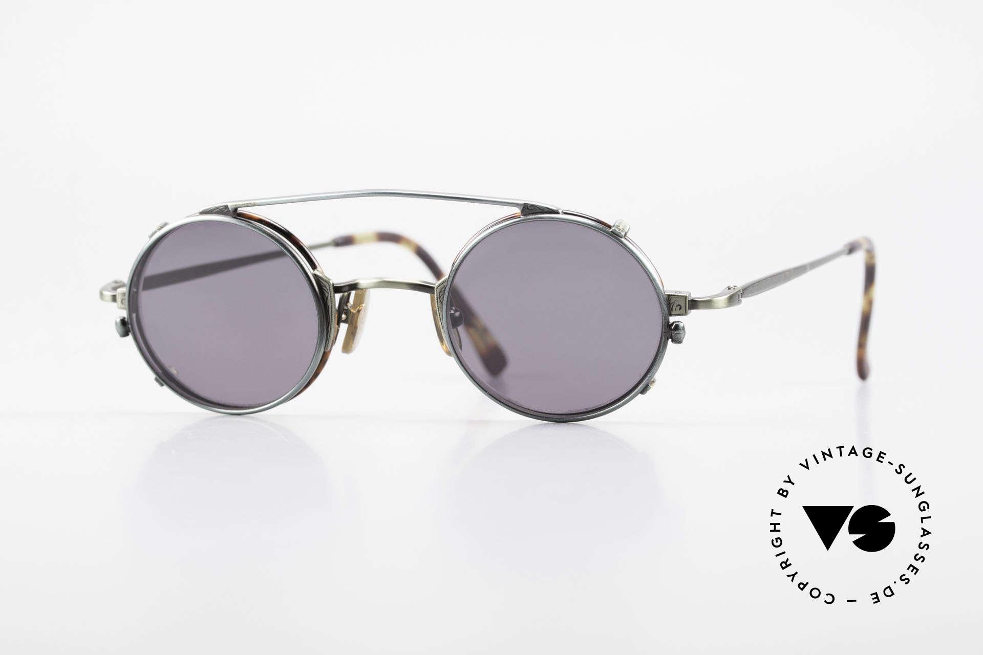 Freudenhaus Tori Kleine Runde Brille Clip On, vintage Brillenfassung von FREUDENHAUS, München, Passend für Herren und Damen