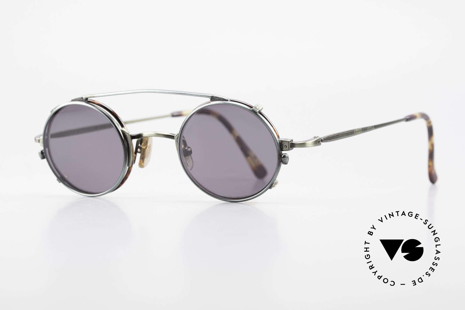 Freudenhaus Tori Kleine Runde Brille Clip On, zeitlos und raffiniert gleichermaßen (SMALL Größe), Passend für Herren und Damen