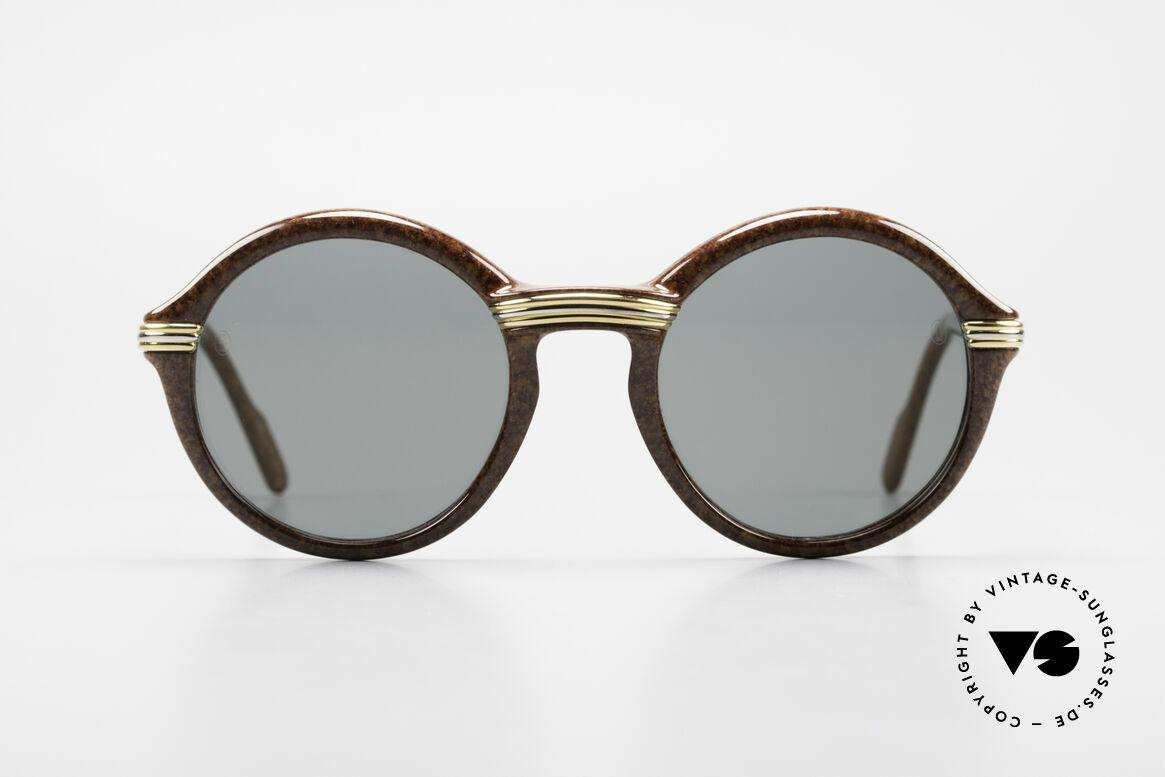 Cartier Cabriolet Runde Luxus Sonnenbrille L, edle & massive Cartier vintage Sonnenbrille von 1994, Passend für Herren und Damen