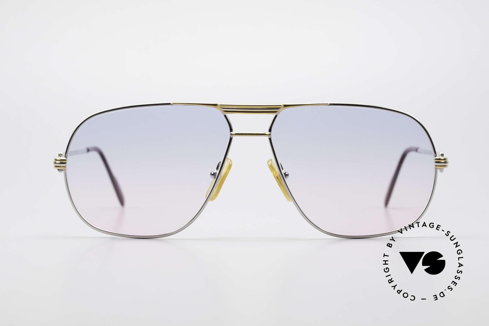 Cartier Tank - L Platin Edition Baby-Blau Pink, kostbare und markante Herrenbrille in zeitlosem Design, Passend für Herren