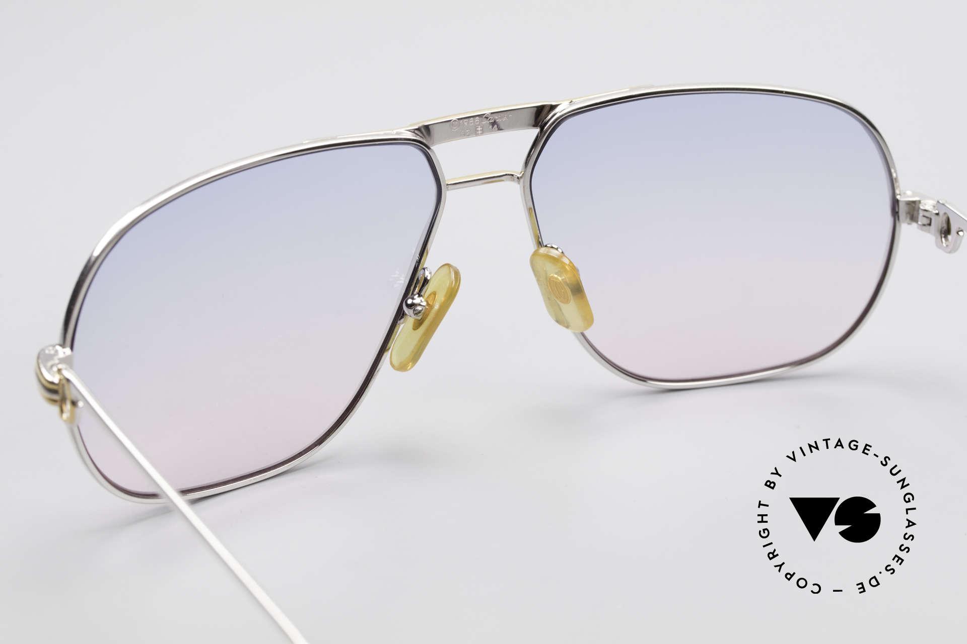 Cartier Tank - L Platin Edition Baby-Blau Pink, KEINE RETRObrille; ein 30 Jahre altes vintage ORIGINAL, Passend für Herren