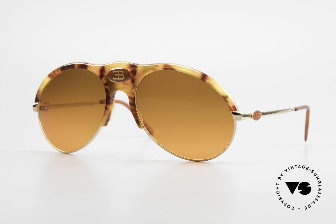 Bugatti 64747 Seltener 70er Bugatti Klassiker, sehr seltene Bugatti VINTAGE Luxus-Sonnenbrille, Passend für Herren