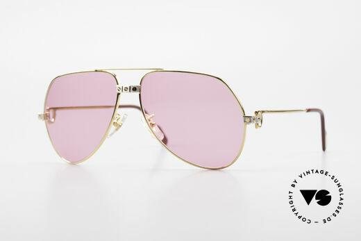 Cartier Vendome Santos - M Pinke Brille Für Bond Girls Details