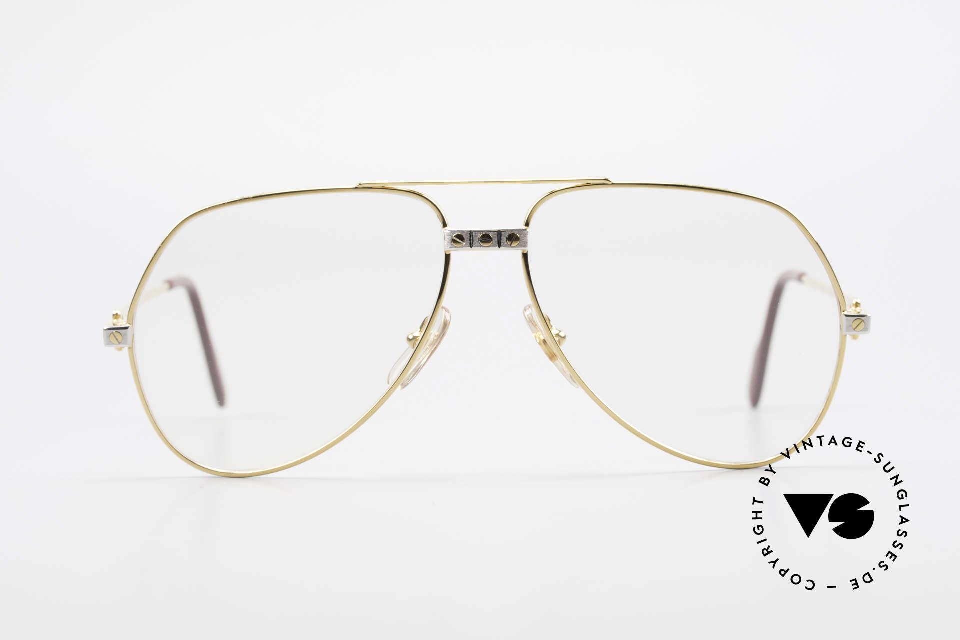 Cartier Vendome Santos - M Automatik Cartier Gläser, wurde 1983 veröffentlicht und dann bis 1997 produziert, Passend für Herren