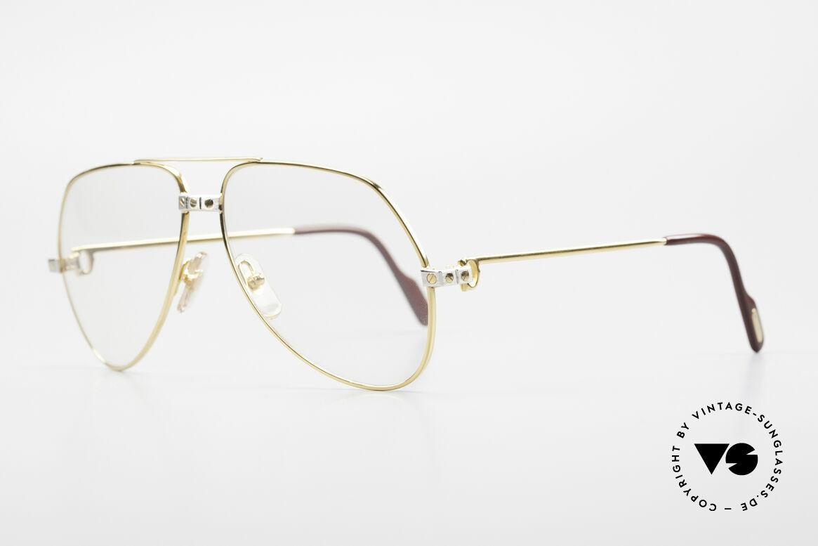 Cartier Vendome Santos - M Automatik Cartier Gläser, Santos-Dekor (3 Schrauben) in Medium Größe 59-14, 140, Passend für Herren