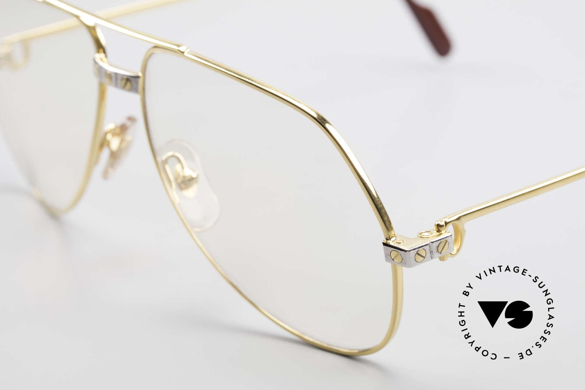 Cartier Vendome Santos - M Automatik Cartier Gläser, teure Mineralgläser verdunkeln bei Sonne automatisch!, Passend für Herren