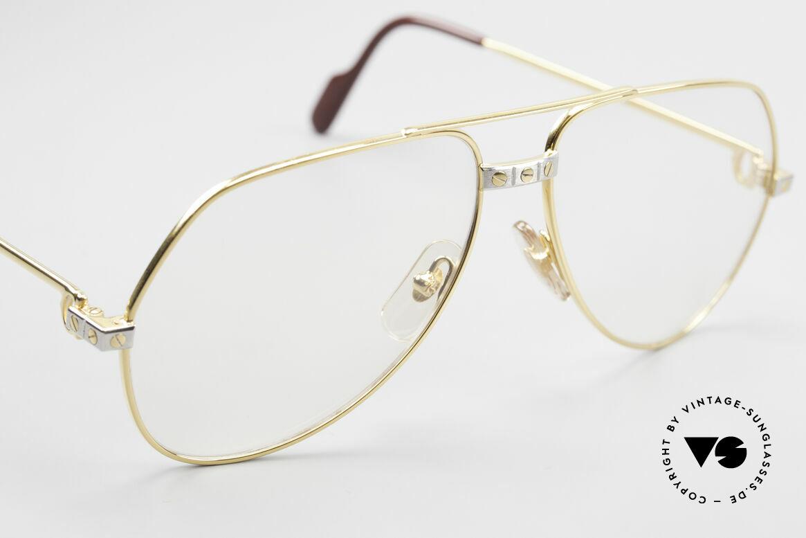 Cartier Vendome Santos - M Automatik Cartier Gläser, original Gläser (Cartier Logo erscheint nach anhauchen), Passend für Herren