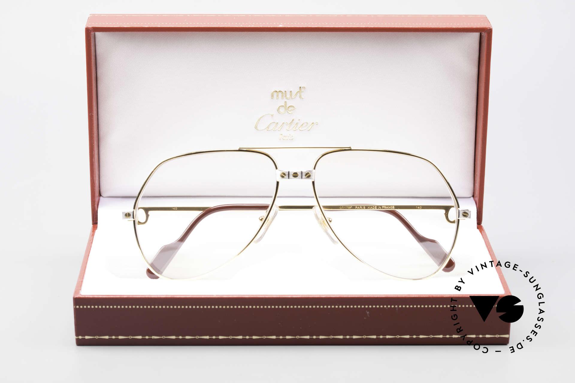 Cartier Vendome Santos - M Automatik Cartier Gläser, KEINE Retrobrille, sondern ein altes vintage ORIGINAL!, Passend für Herren