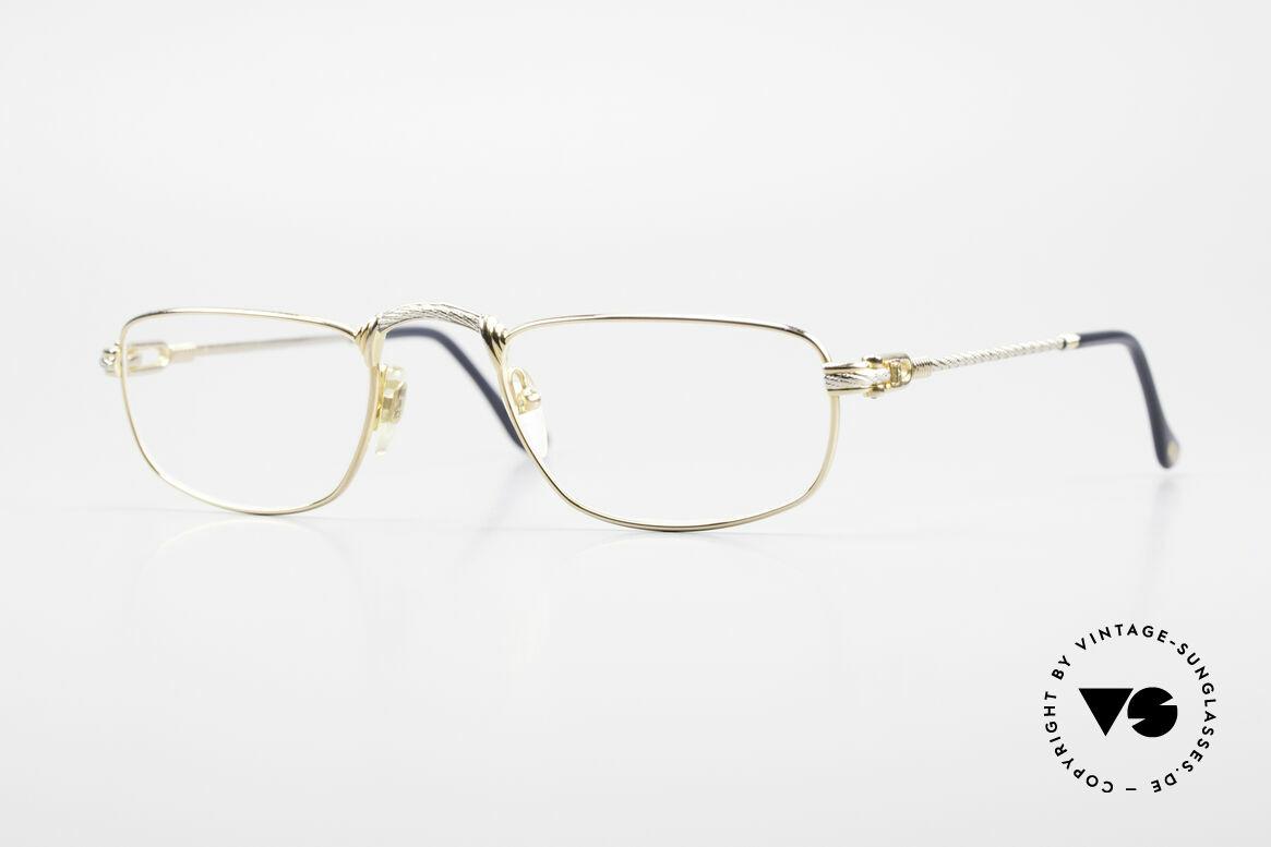 Fred Demi Lune Halbmond Luxus Lesebrille, einmalige 90er J. Designer-Lesebrille von FRED, Paris, Passend für Herren und Damen