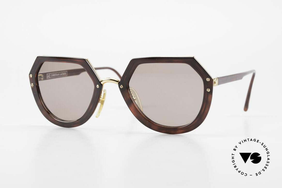 Christian LaCroix 7310 Rokoko Vintage Sonnenbrille, markante Christian LACROIX vintage Brille von 1990, Passend für Damen