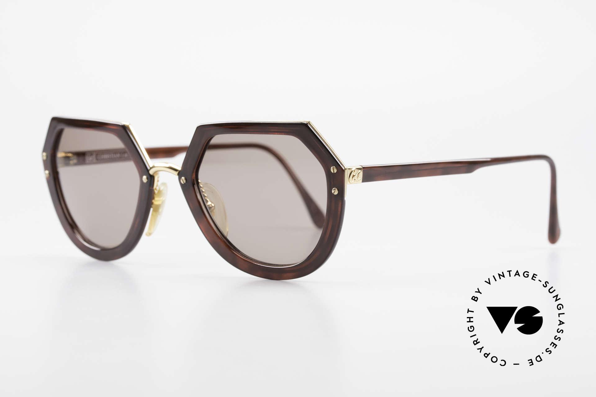 Christian LaCroix 7310 Rokoko Vintage Sonnenbrille, genialer OPTYL-Kunststoff & hartvergoldetes Metall, Passend für Damen