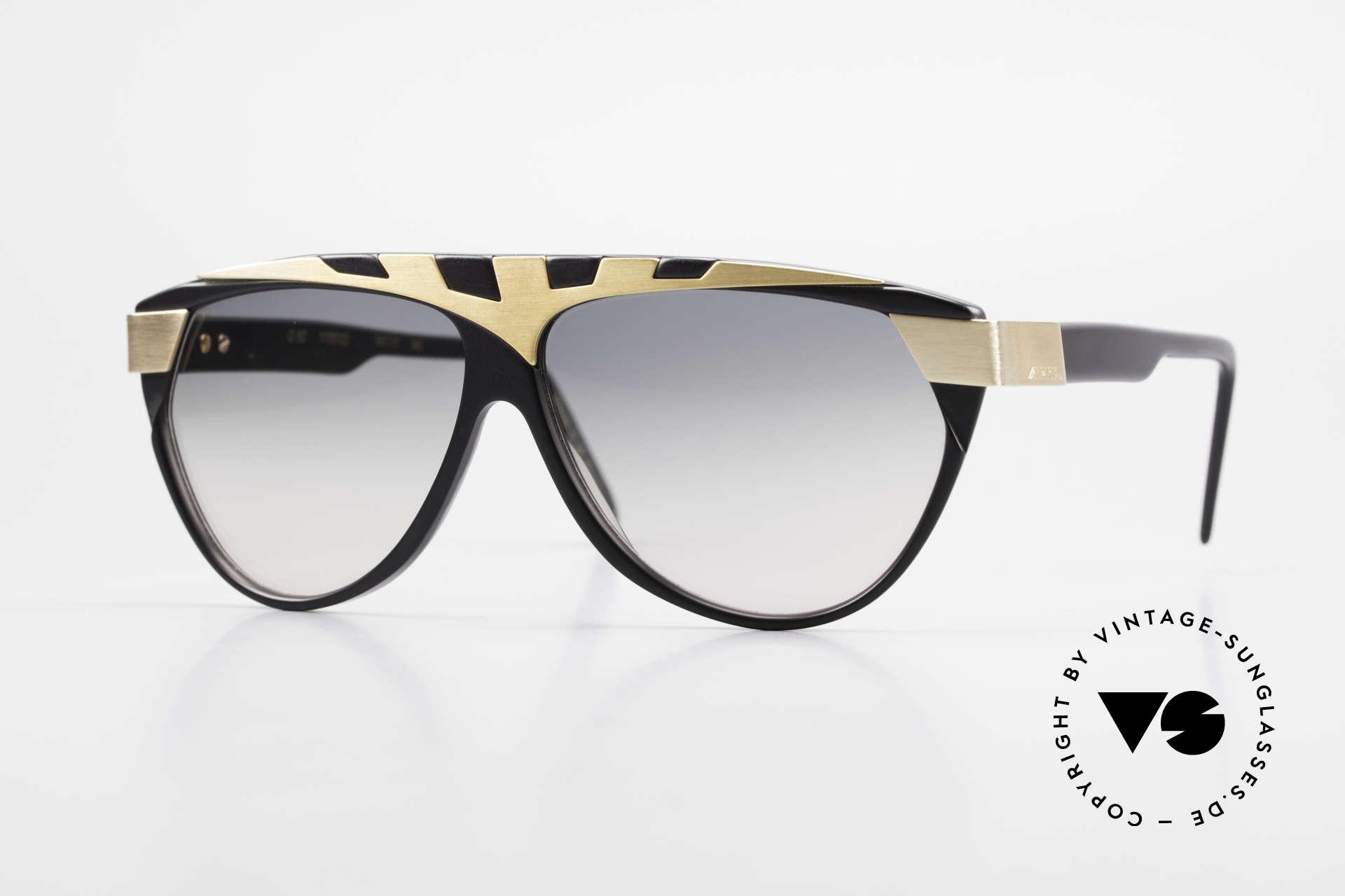 Alpina G80 Vergoldete 80er Sonnenbrille, vintage Modell aus dem 'Genesis Project' von Alpina, Passend für Herren und Damen
