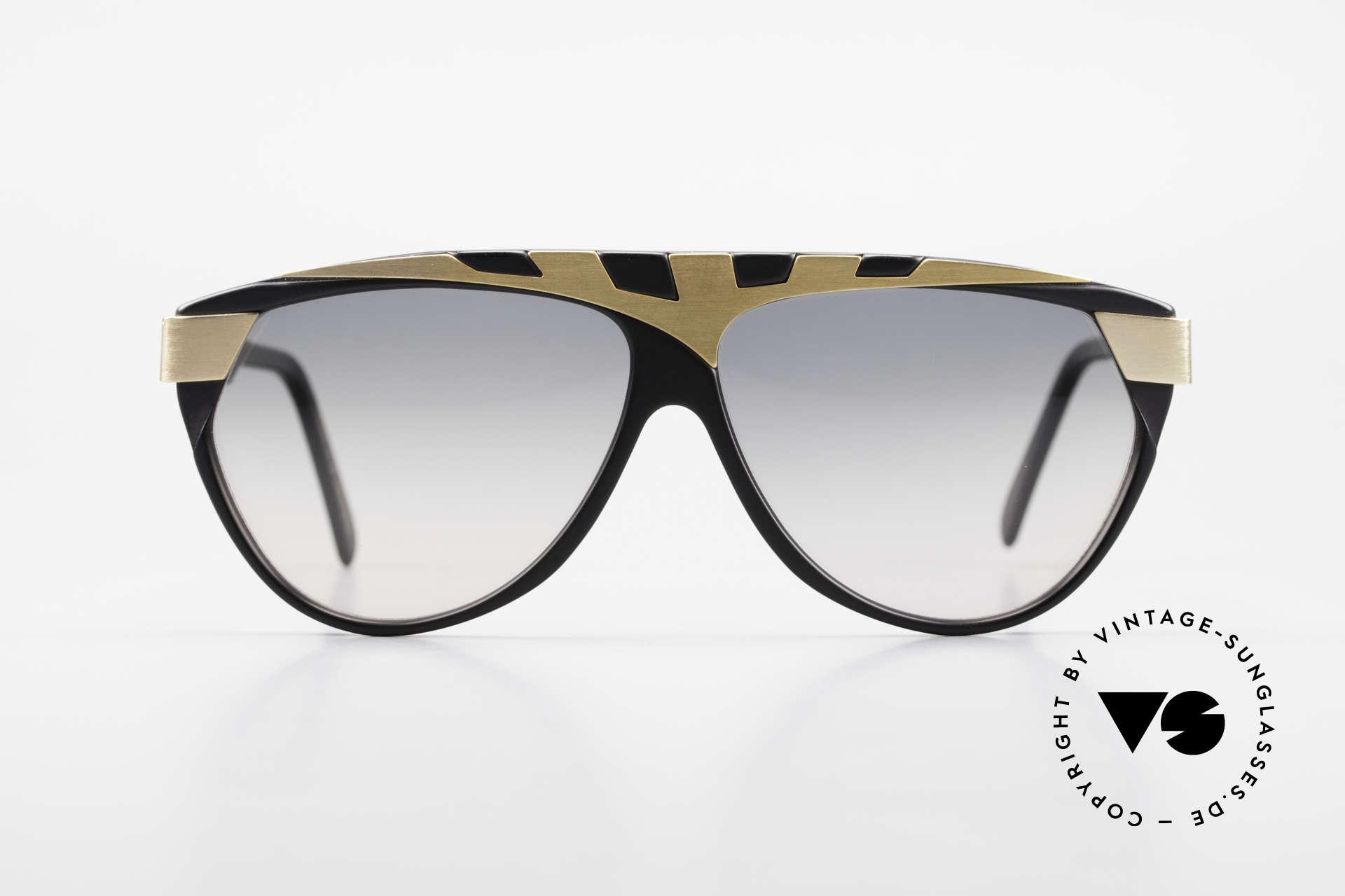Alpina G80 Vergoldete 80er Sonnenbrille, außergewöhnliches Brillendesign in Farbe und Form, Passend für Herren und Damen