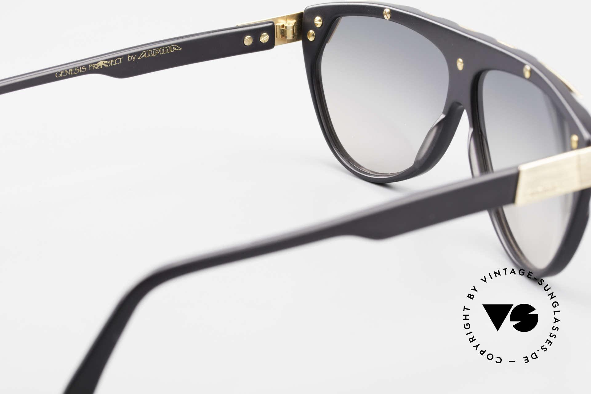 Alpina G80 Vergoldete 80er Sonnenbrille, KEINE RETROMODE; sondern ein altes Unikat v. 1985, Passend für Herren und Damen