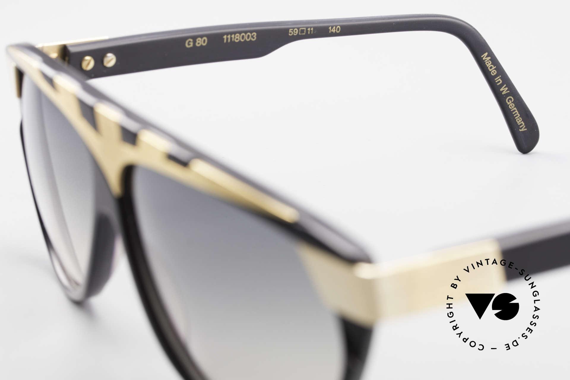 Alpina G80 Vergoldete 80er Sonnenbrille, Größe: medium, Passend für Herren und Damen