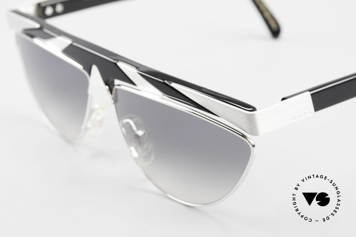 Alpina G85 Genesis Project 80er Brille, Top-Qualität mit versilberten Metall-Applikationen, Passend für Herren und Damen