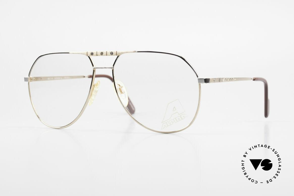 Alpina FM27 Alte Vintage Pilotenbrille 80er, klassische vintage ALPINA Pilotenbrillen-Form, Passend für Herren