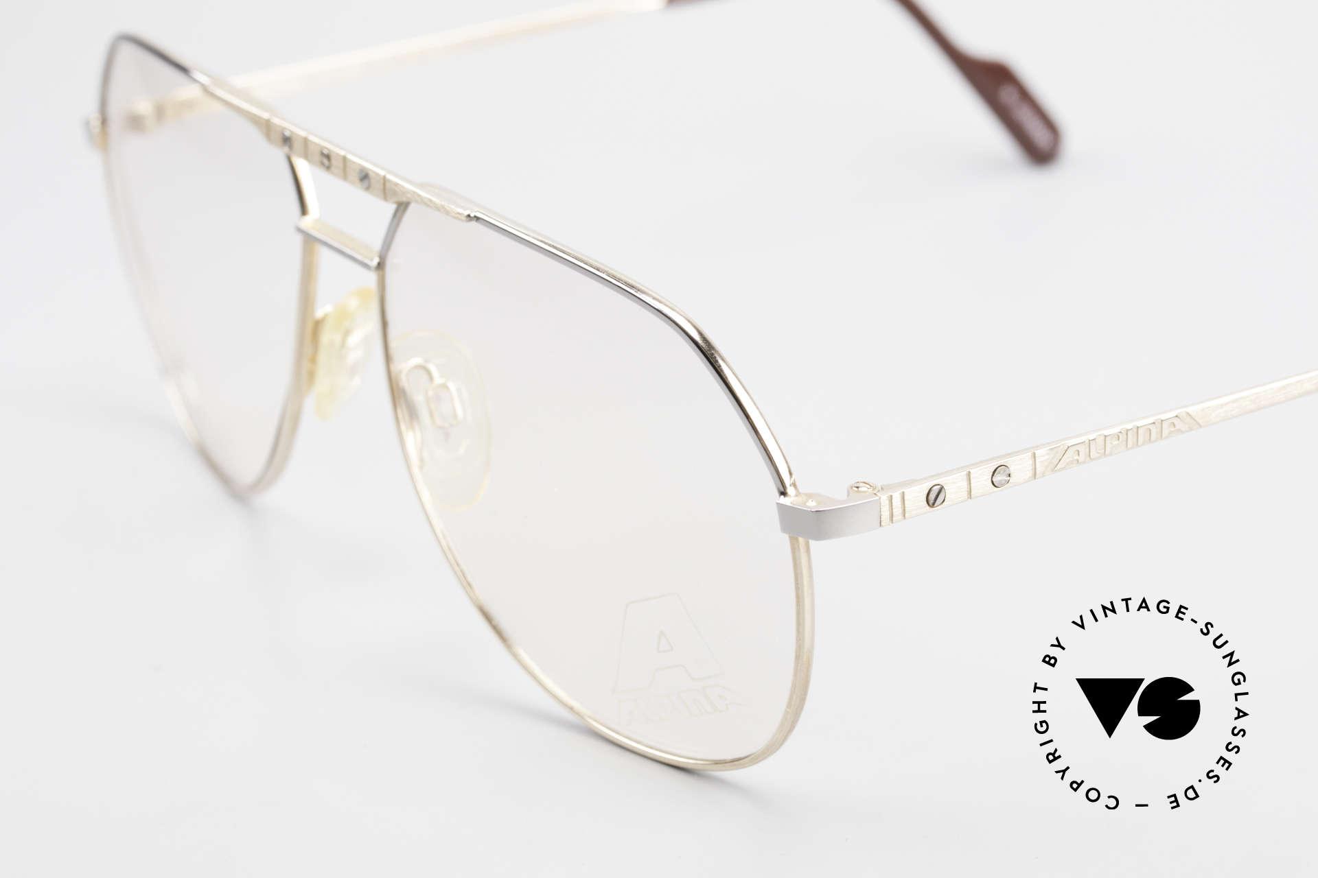 Alpina FM27 Alte Vintage Pilotenbrille 80er, ungetragen (wie alle unsere VINTAGE Fassungen), Passend für Herren