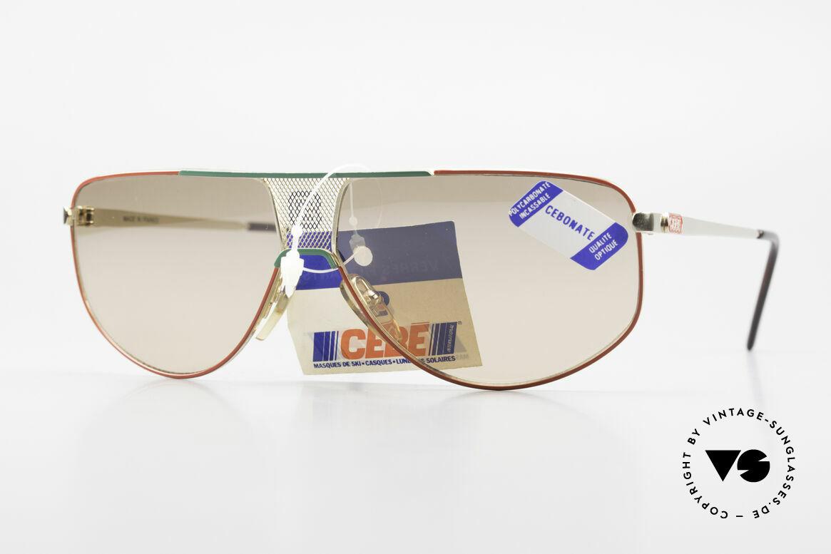 Cebe 0299 90er Sportsonnenbrille Ski, vintage Cebe Sportbrille für extreme Wetterbedingungen, Passend für Herren und Damen