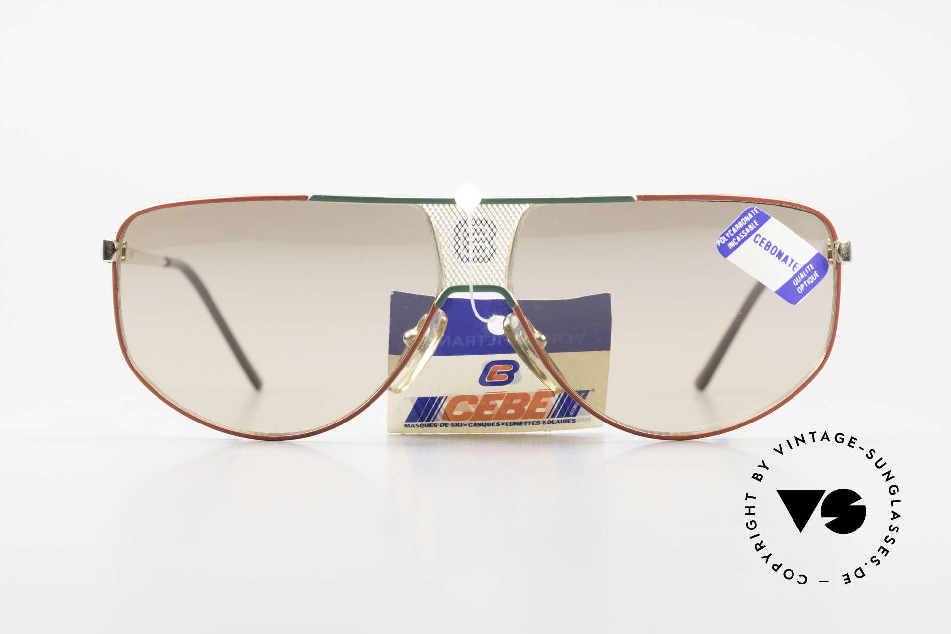 Cebe 0299 90er Sportsonnenbrille Ski, elastischer Rahmen (flexible Scharniere) für idealen Halt, Passend für Herren und Damen