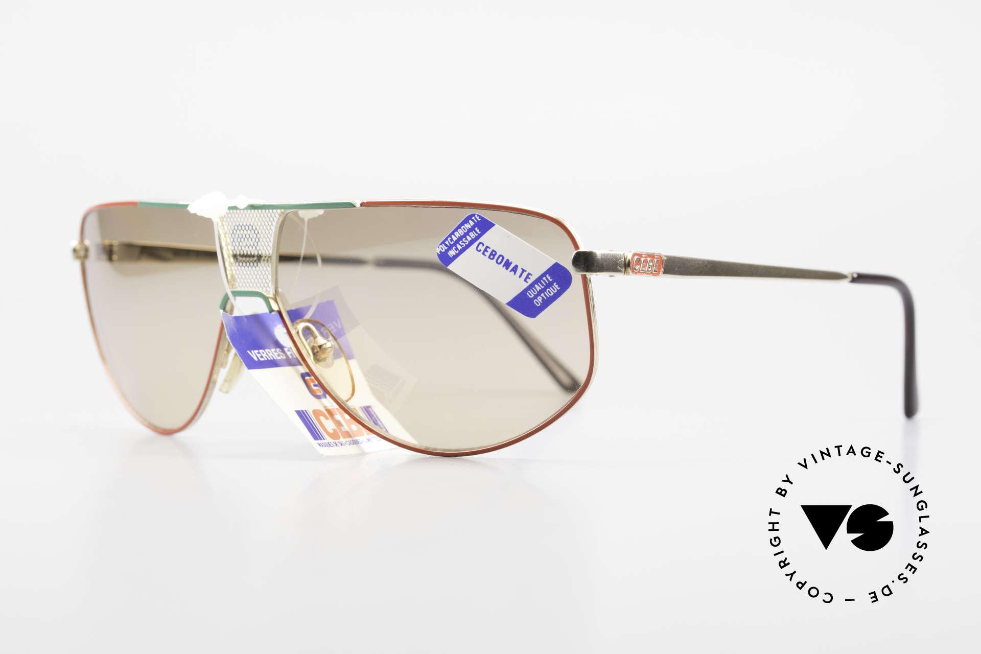 Cebe 0299 90er Sportsonnenbrille Ski, high-end Karbonat-Sonnengläser (für Sport-Aktivitäten), Passend für Herren und Damen