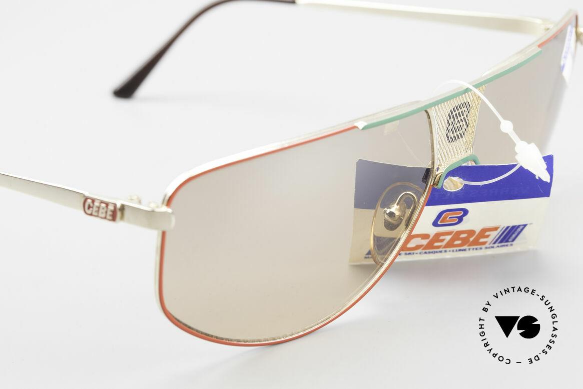 Cebe 0299 90er Sportsonnenbrille Ski, ungetragen (wie alle unsere CEBE Ski-Sportsonnenbrillen), Passend für Herren und Damen