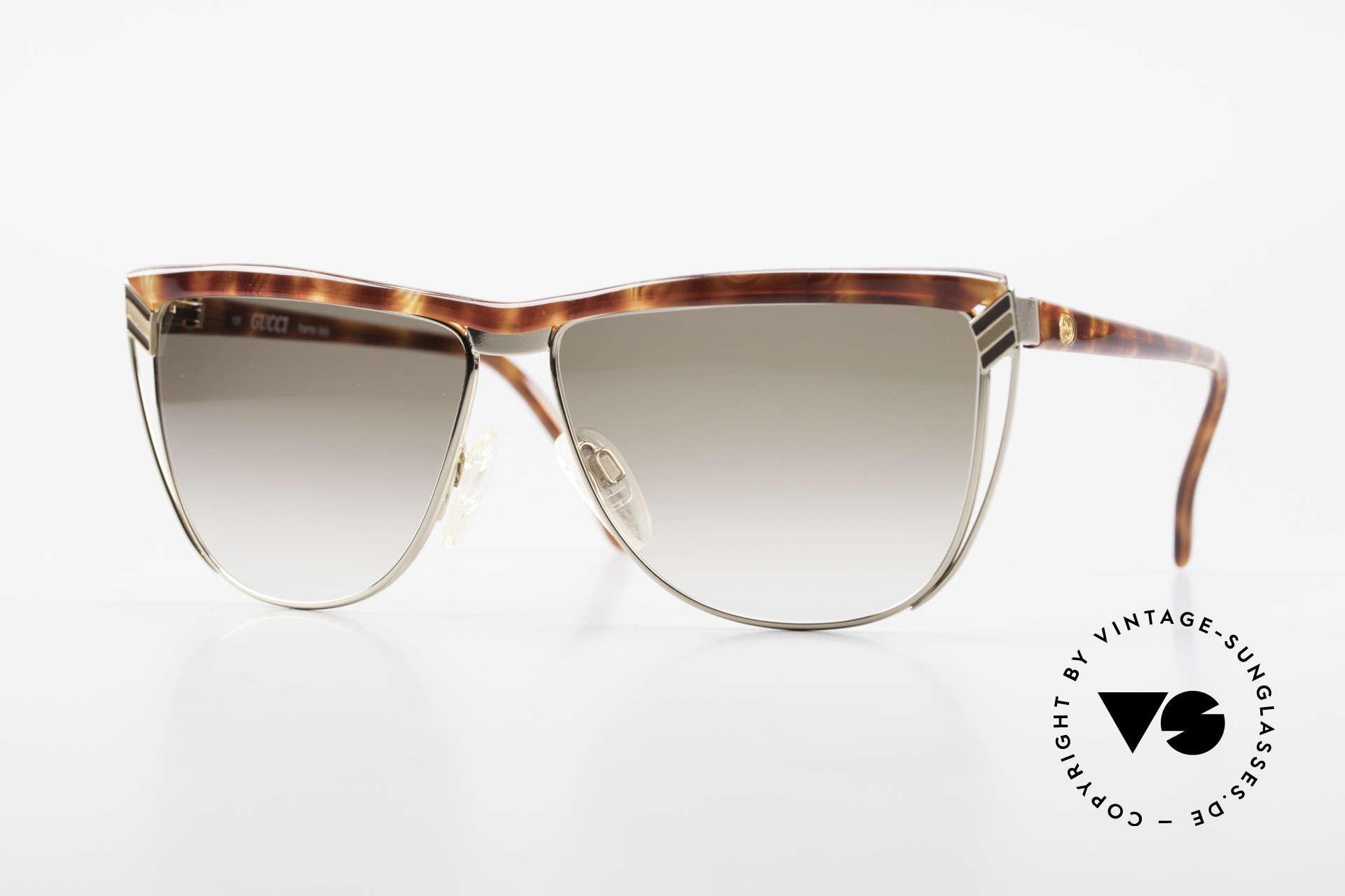 Gucci 2300 Damen Designer Sonnenbrille, vintage 1980er Brille von GUCCI in Schildpatt-Optik, Passend für Damen